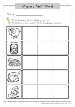FREE CVC Mystery Word. Includes color and black and white sheets. Kids have to figure out the mystery word by using the left over letter tiles on the board. A fun word building activity.