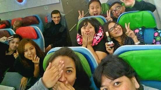 On board Turkish Airlines.  #turkeytrip #jan2015