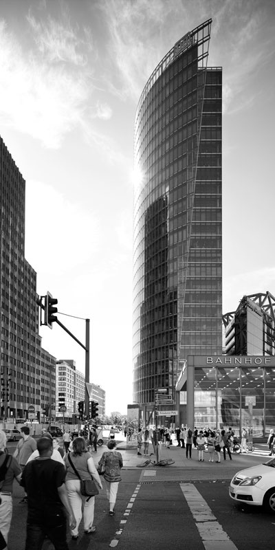 Grattacielo della DB - Deutsche Bundesbahn - in Potsdamer Platz - Berlin