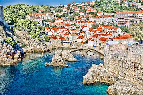 Brac Island, Croatia. If you've never driven a moped before - I don't suggest starting on the hills/streets of this town