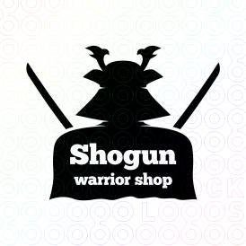 Shogun Warrior Shop logo. Created by @Molumen. On sale at @stocklogos.