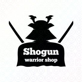 Shogun Warrior Shop logo. Created by @Molumen. On sale at @stocklogos.