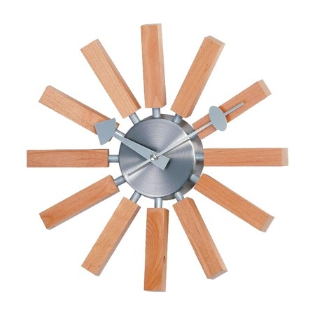 slatted wood wall clock 3