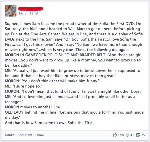 Great parenting!