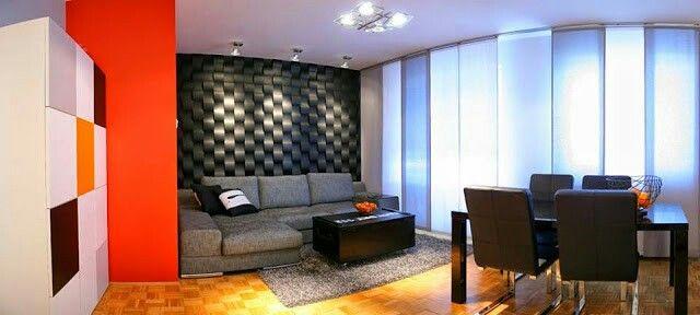 Dekorative 3d Panels im Wohnzimmer, Wohnzimmerwand gestalten