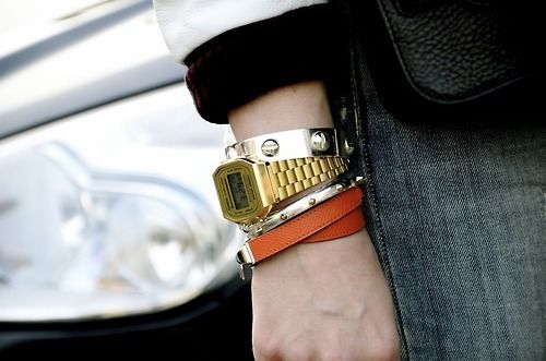 Retro Casio Gold Watch <3