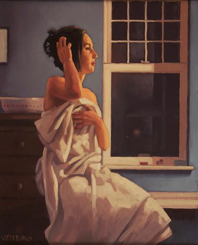 Jack Vettriano - Model in the Studio (study)