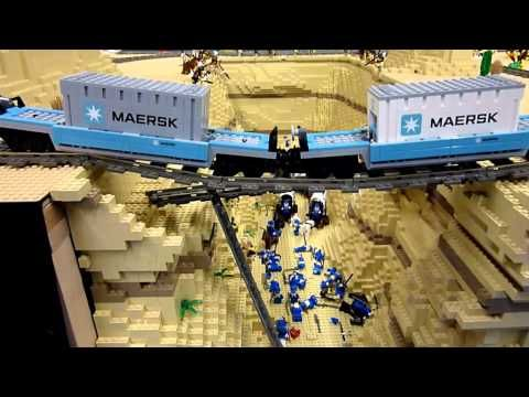 Lego train - Maersk and the canyon StRambert 2011 - YouTube