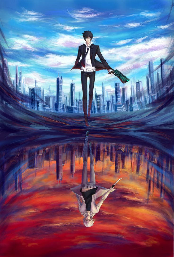 """Anime: Psycho-Pass This anime is on my list """"I must watch"""" but didn't see it either so I can't tell much about it. Gomen' -Ayatan"""