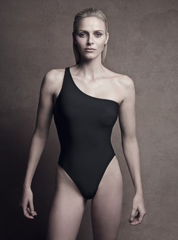 """Princess Charlene of Monaco. """"I fell in love with her sense of humor, her simplicity, and the natural way she relates to people,"""" he says. """"To me, Charlene never looks more beautiful than when she is natural—without makeup and her hair pulled back."""" Prince Albert talking about his wife Charlene Wittstock."""