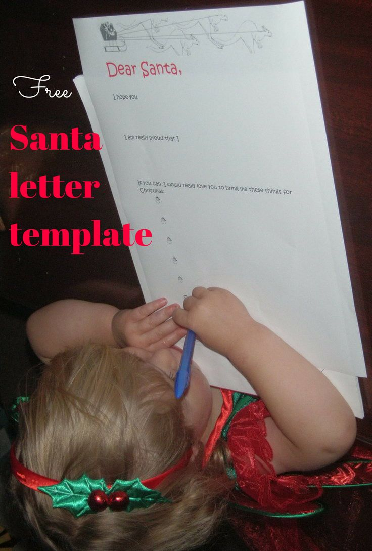 A letter template helps kids to write to Santa, thanks to lovesanta.com.au