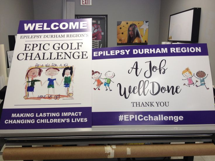 Speedpro Imaging Oshawa donated these awesome signs to a charity golf tournament run by Epilepsy Durham – digital print on Avery MPI2903 with lustre laminate, applied to 4mm coroplast. They look great!