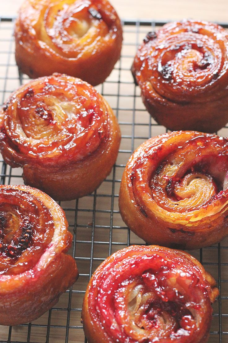 "Raspberry Kouign Amann (from Brittany) ~ via this blog, ""The Sugar Hit""."