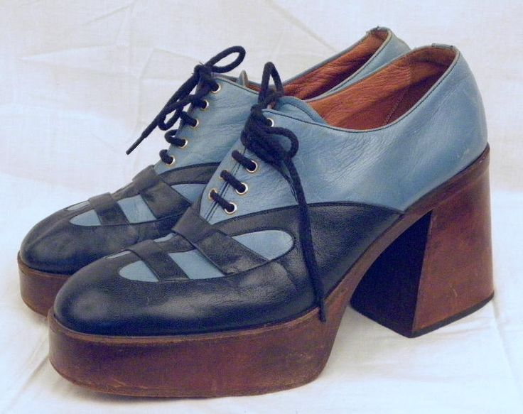 Image result for mens 70's platform shoes