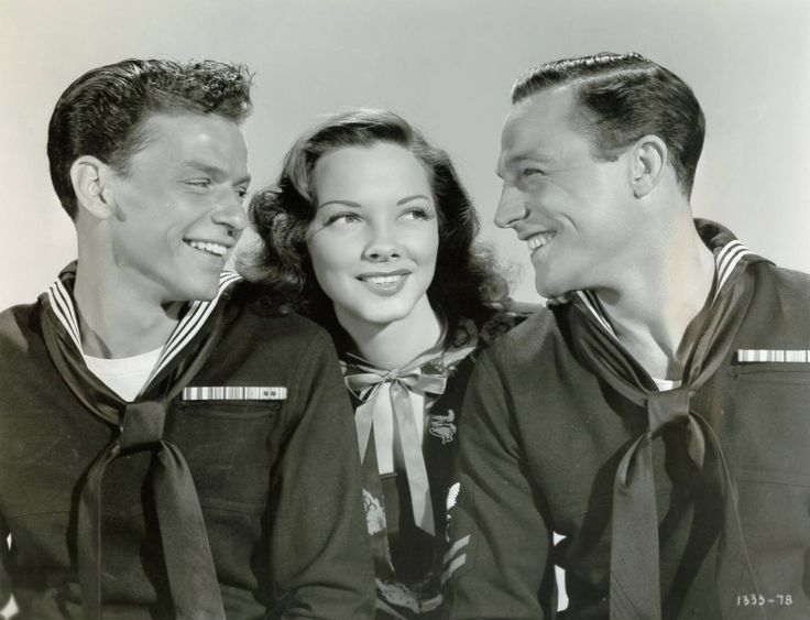 Frank Sinatra, Kathryn Grayson, and Gene Kelly for 'Anchors Aweigh' - 1945                                                                                                                                                                                 More