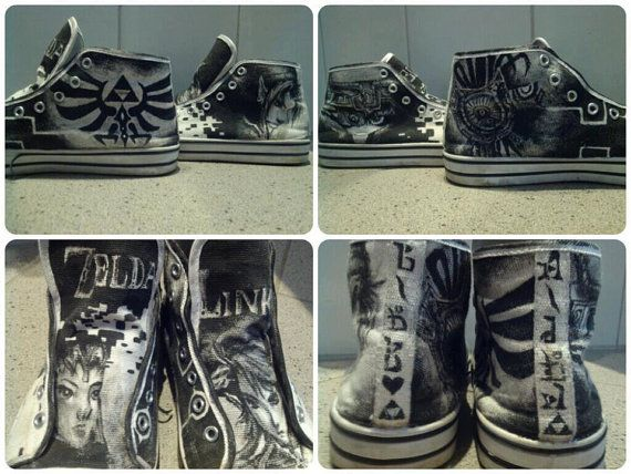 Legend of Zelda Twilight Princess Shoes by ZeldaCrap on Etsy, $80.00