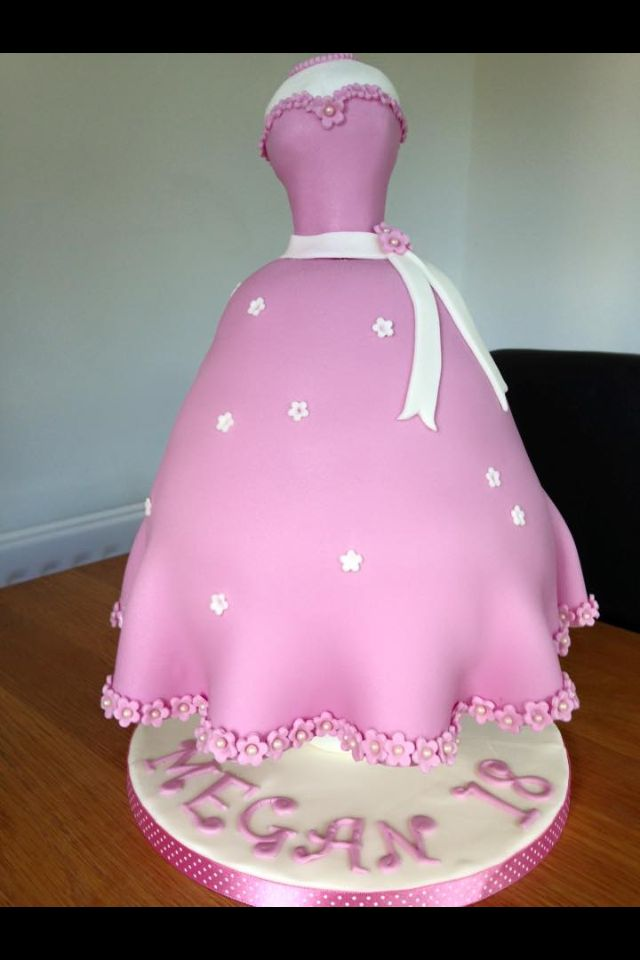 Mannequin Cake - the dress could be any, such as a Disney Princess Dress, bridesmaid's dress or wedding dress