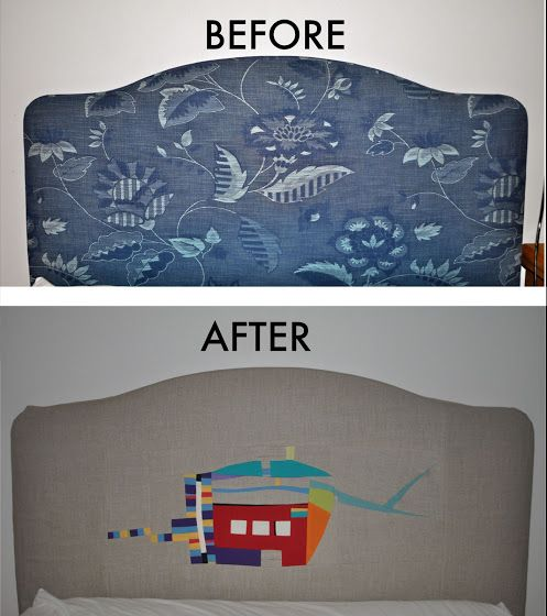 Improv patchwork headboard makeover | Sewn Up