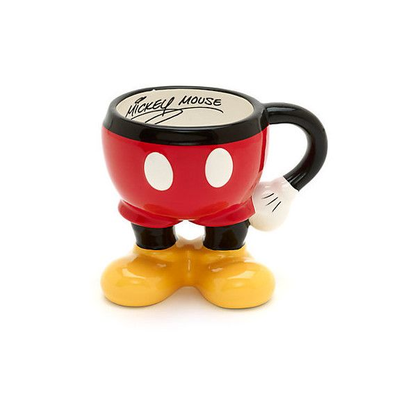 Mickey Mouse Half Mug (300 ARS) ❤ liked on Polyvore featuring home, kitchen & dining, drinkware and mickey mouse mug