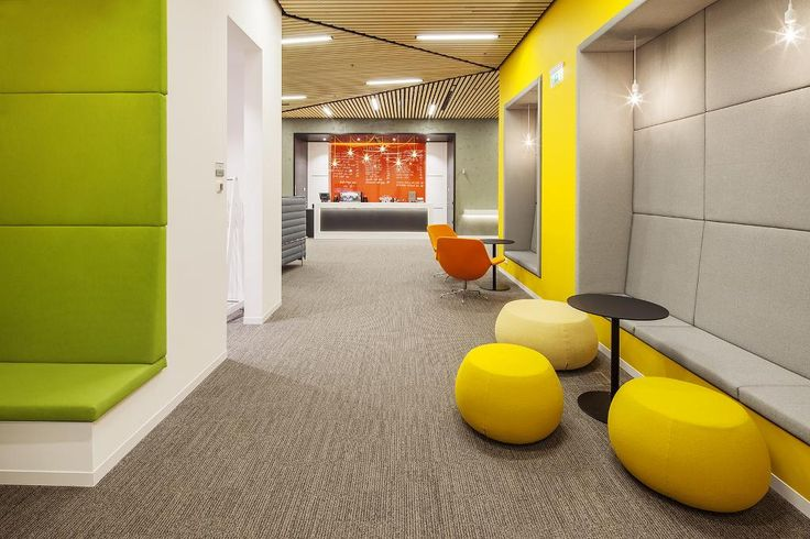 Microsoft office in Prague, Czech Republic.  Carpet tiles by Interface, collection Equilibrium.