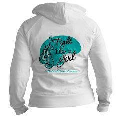 Fight Girl Peritoneal Cancer Jr. Hoodie> Peritoneal Cancer Fight Like a Girl Shirts> Hope & Dream Cancer Awareness T-Shirt Store