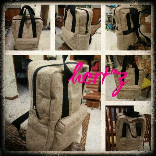 Backpack with special material.
