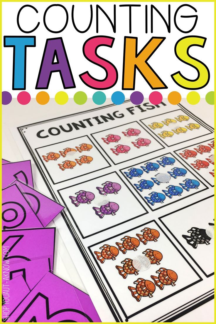 Counting Tasks are perfect for beginning counters. We use these 20 tasks any time of the year in our Autism classroom.