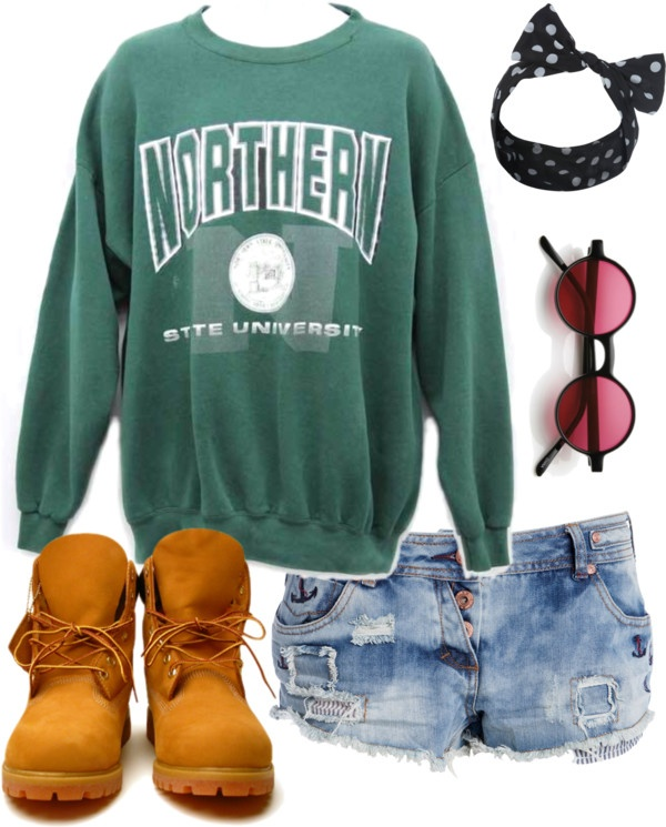 """Timberland Boots"" by colorfulnails on Polyvore"