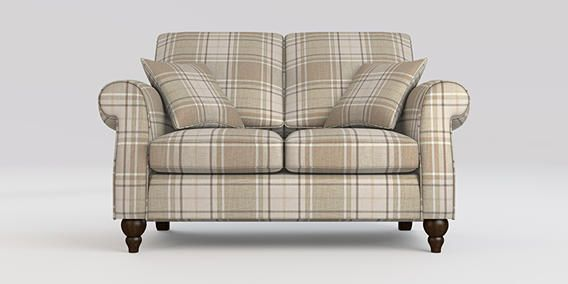 Buy Ashford Small Sofa (2 Seats) Soft Woven Check Natural Low Turned - Standard from the Next UK online shop
