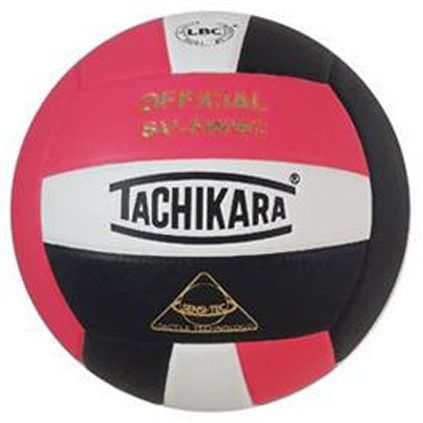 Tachikara SV5WSC 3-color Volleyball - Pink/White/Black $35.99
