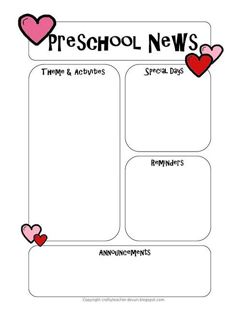 Classroom weekly newsletter february printables maxwellsz