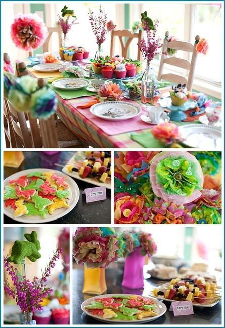 Colourful Mad Hatters Tea Party | Birthday Ideas