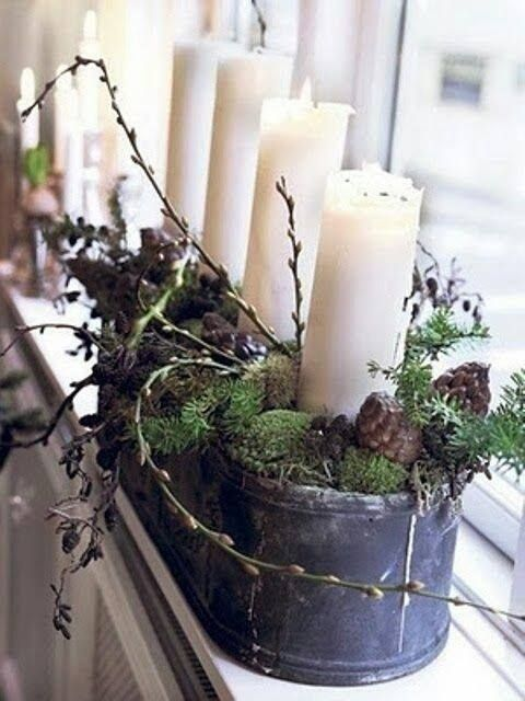 Centerpiece or window decoration - however...it's simple and very beautiful!
