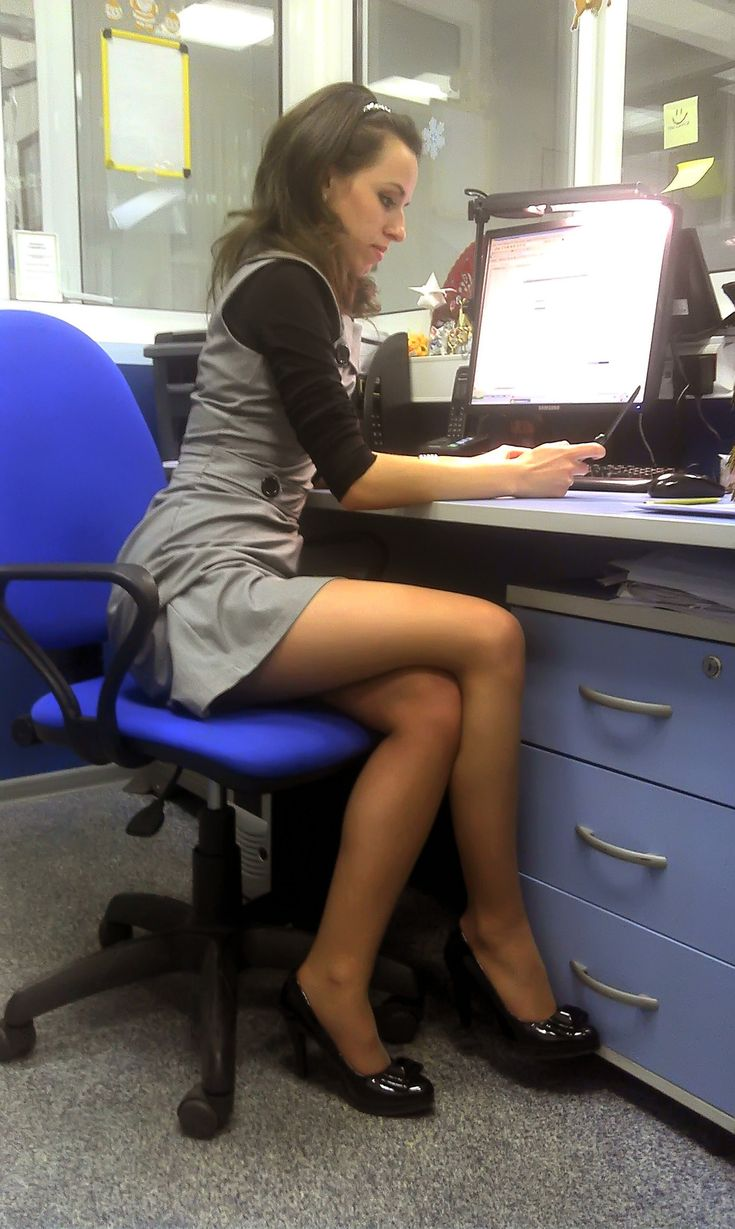 Office chick with great legs | Elevator Eyes in the ...