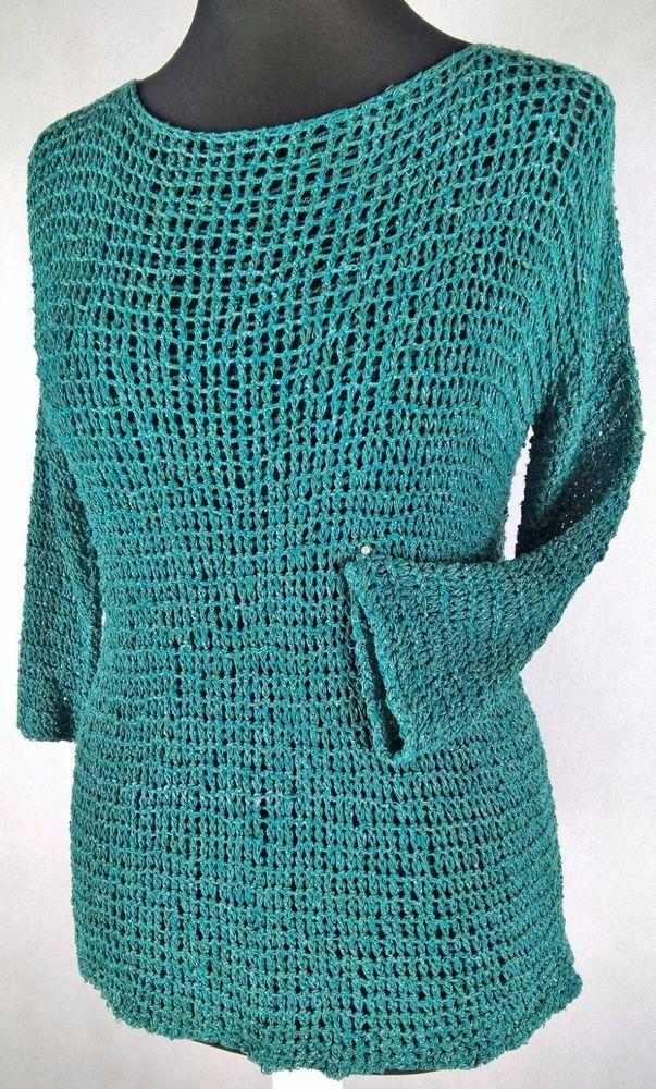 Zielony sweter lniany   eBay