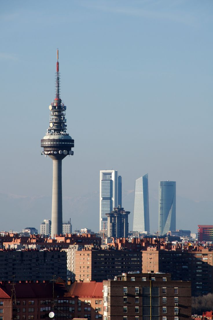 *Arquitectura* Torrespaña (El Pirulí) and The Four Towers, Madrid, Spain