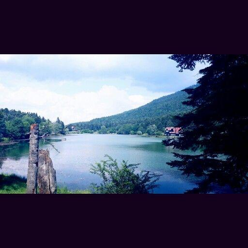 Bolu konumunda Gölcük Gölü