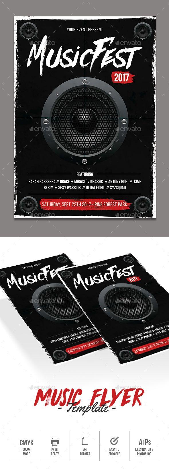 1658 best Concert Flyer Design Template images on Pinterest ...