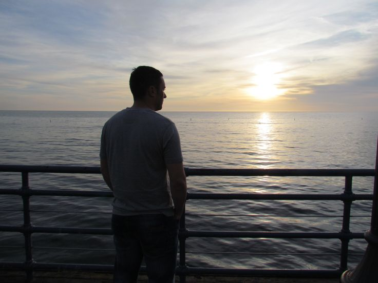 Me enjoying the sunset at Santa Monica pier