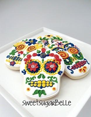 incredible sugar skull cookiesSkull Sugar, Sugar Cookies, Skull Cookies, Sugar Skull, Of The, Halloween Food, Dead, Day, Halloween Cookies