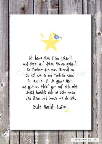 Kinderzimmerdekoration   Druck/Print: Sterntaufe   Geburt