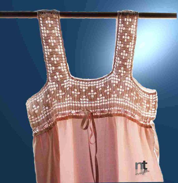 Notte Rosa crochet top pattern