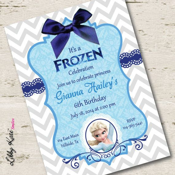 Frozen Birthday Party Invitation Frozen Photo by LibbyKateSmiles