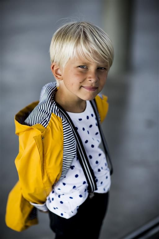 Kids raincoat with striped lining