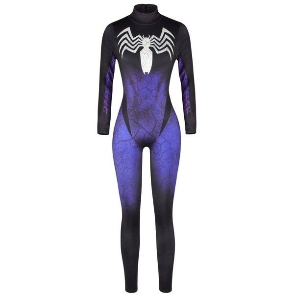 Womens Halloween Party Cosply Catsuit,3D Jumpsuit Romper ($23) ❤ liked on Polyvore featuring jumpsuits, blue romper, playsuit jumpsuit, going out jumpsuits, blue jumpsuit and jump suit