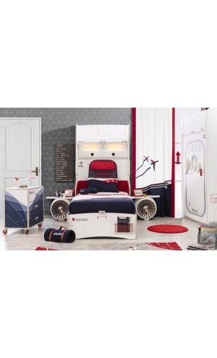 Dormitorio temático First Class de Cilekspain, dormitorios temáticos. La cama del avión.
