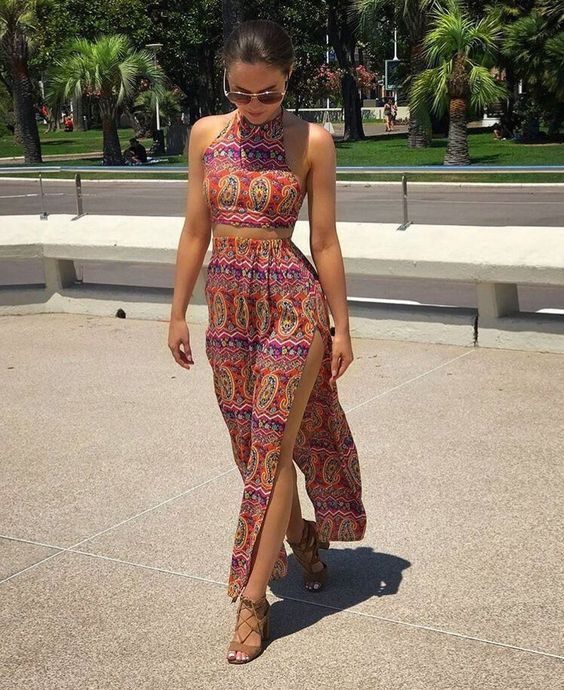 Trendy Two Piece Set Outfit For Ladies.