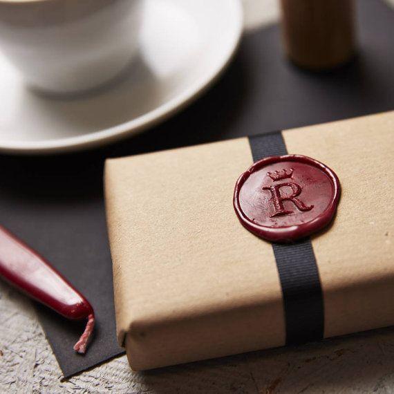 Personalised Crown Monogram Wax Seal Stamp by SophiaVictoriaJoy