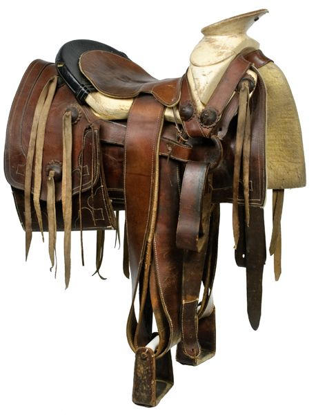 Mexican Bone Framed Roping Saddle - Cowan's Auctions - I would love to have an old roping saddle because none if the new styles fit my mare correctly. But by now I'm so used to riding bareback and it would take a little bit to get used to the saddle again.