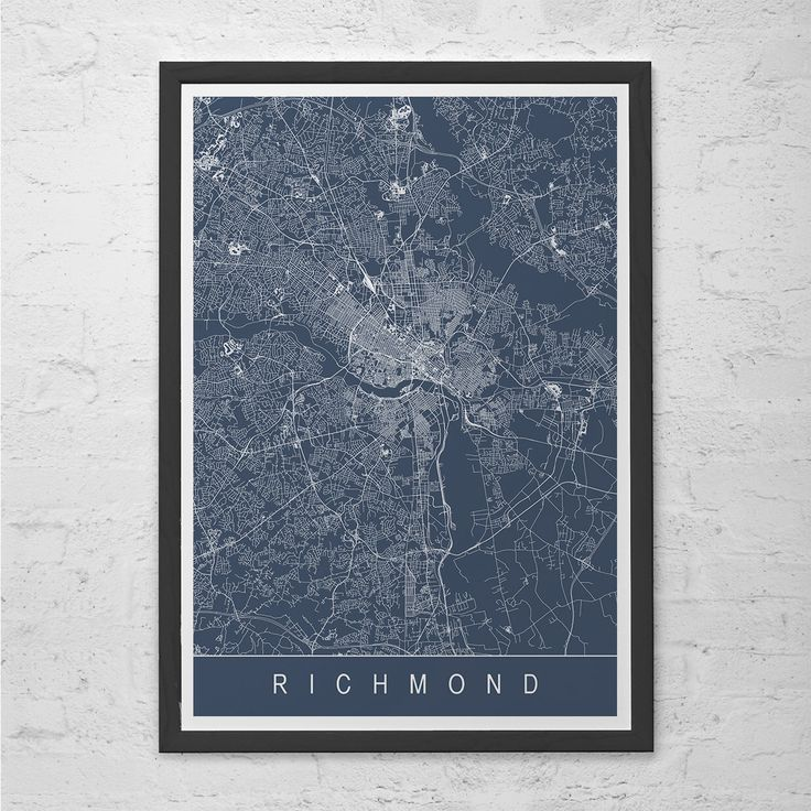 RICHMOND MAP PRINT - Richmond Virginia V.A. Map Art - High Quality Giclee Print Minimalist Art Print Customizable City Map Ribba Size by EncoreDesignStudios on Etsy https://www.etsy.com/listing/237902340/richmond-map-print-richmond-virginia-va